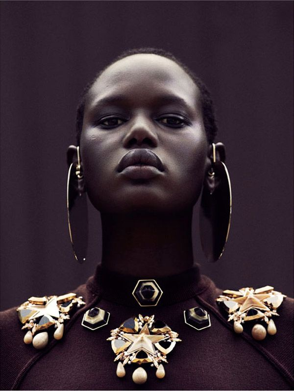 Model Ajak Deng, photographed by Julia Noni for Obsession Magazine, courtesy the Coolist.