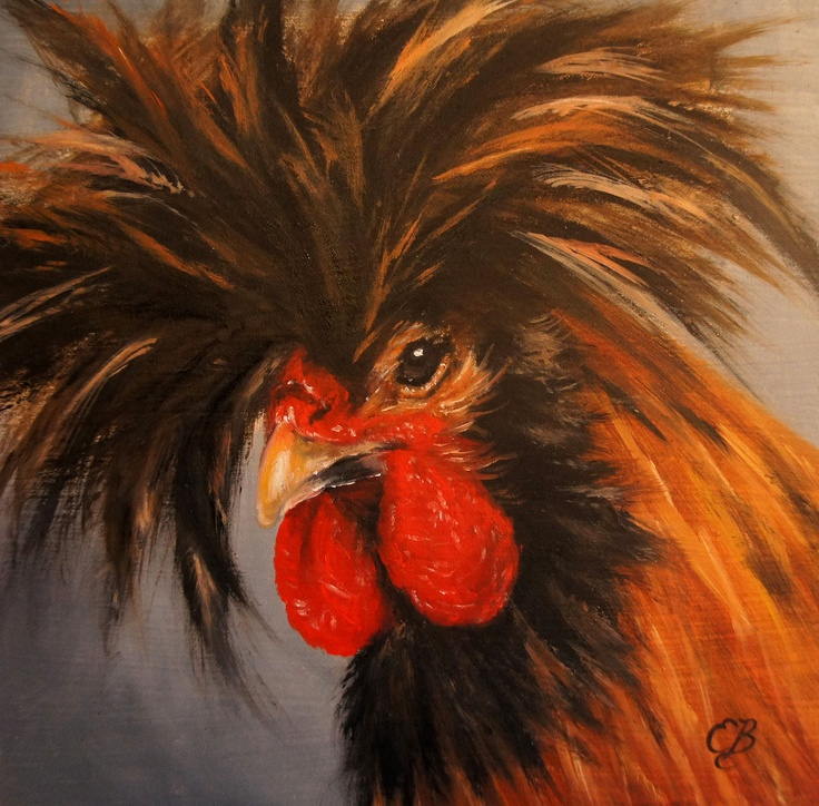 Paintings Of Roosters In Oil