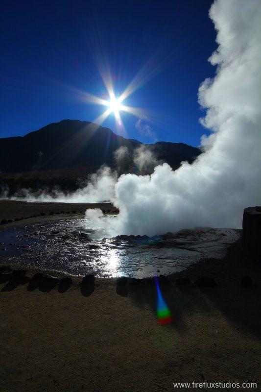 Steaming Geyser - El Tatio, Antofagasta - Chile