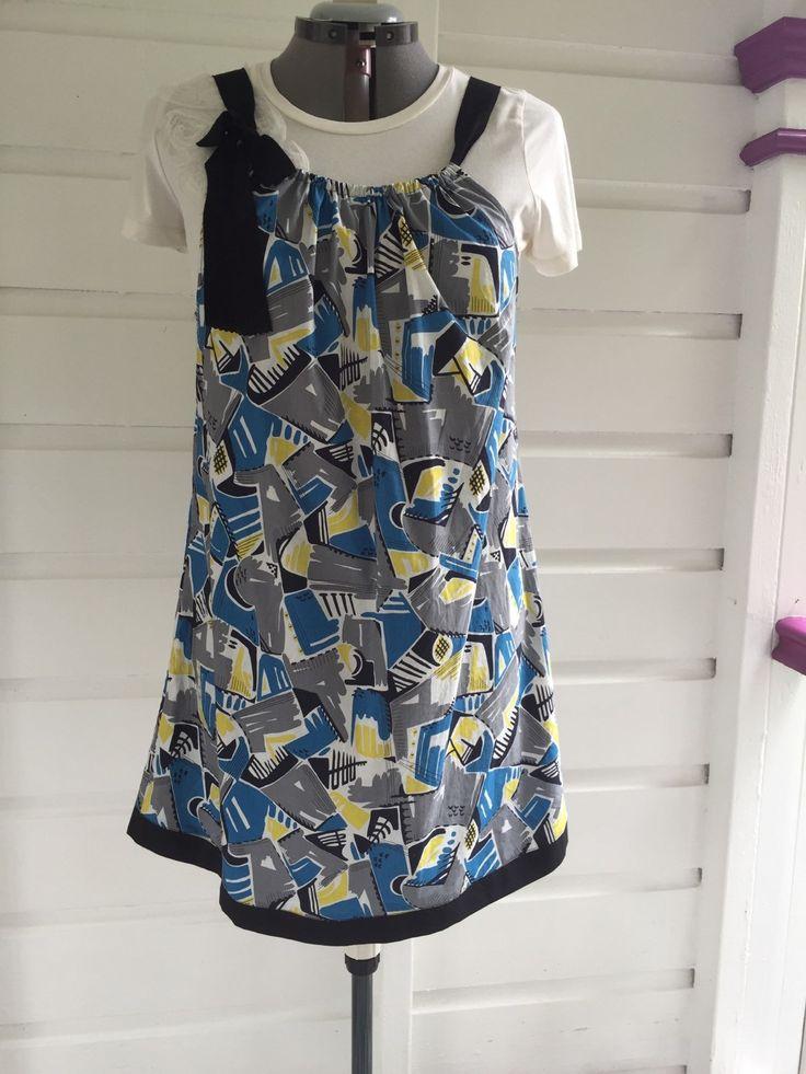 Size 12 sun dress with ties. by StitchedUpBySmith on Etsy