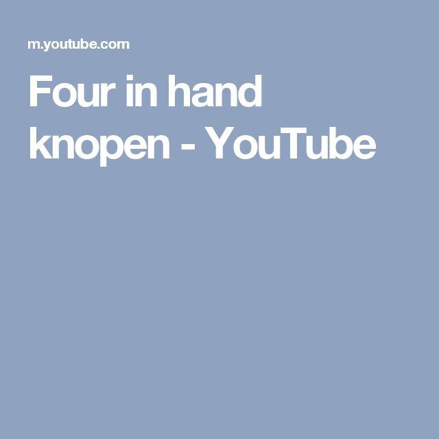 Four in hand knopen - YouTube
