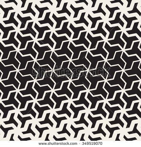 Vector Seamless Black And White  Geometric Triangle Shape Tessellation Halftone … – Pattern