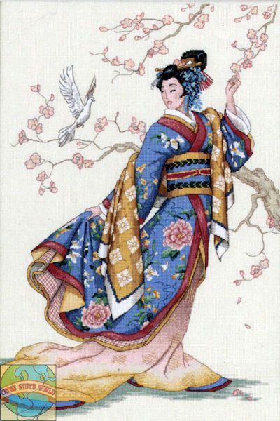 Dimensions Cross Stitch Patterns Free | Gold Collection - Elegance of the Orient - Cross Stitch World