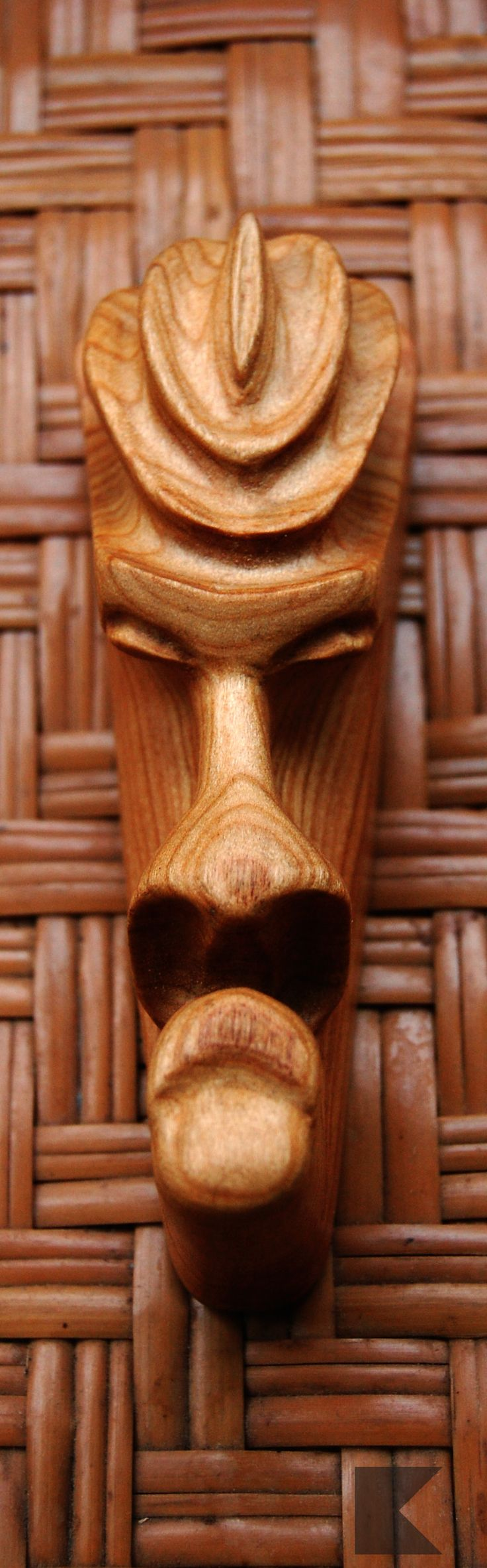 #Cherry #wood #Figastyan #face #k-pipes #carved #mask