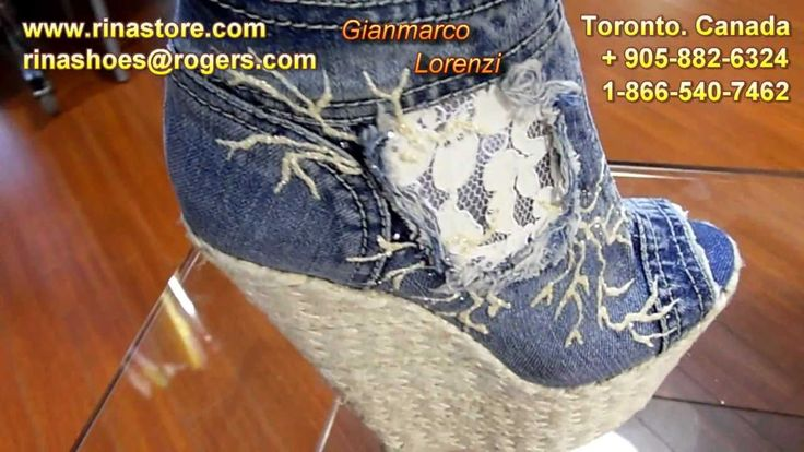 Beautiful Gianmarco Lorenzi Jeans Italian High Heel Shoes 2010
