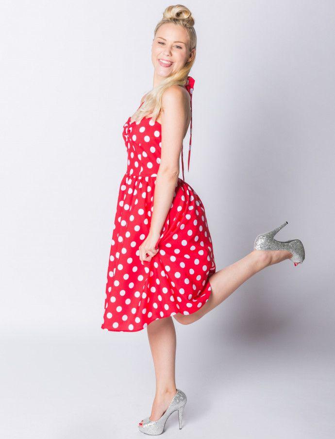 Kleid 50er gepunktet | Deiters  |  Damen  | Kostüm | Karneval | Fasching | Outfit | Mottoparty | Halloween