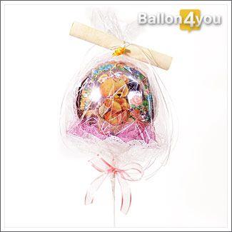 Miniballon Baby Girl mit Brief Geburt Tochter
