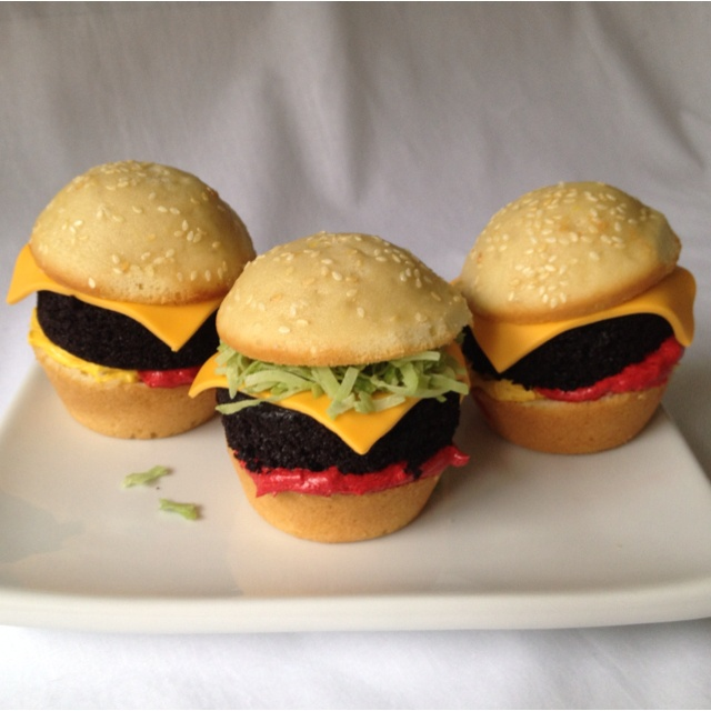 Cupcake sliders, made these for fun