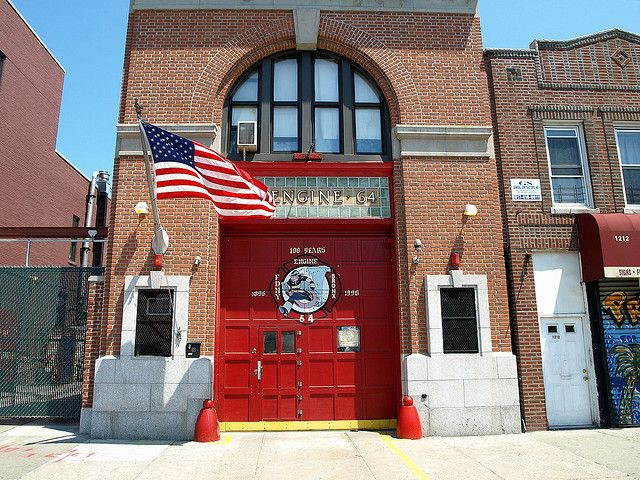 E064 FDNY Firehouse Engine 64, Castle Hill, Bronx, New York City by jag9889, via Flickr shared by NYC Firestore