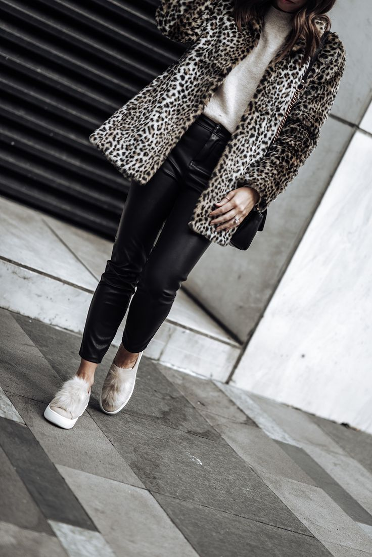 Fluffy Yarn Sweater   Leopard print Coat   Pom pom sneakers   Sunglasses  Tiffany Jais fashion and lifestyle blogger of Flaunt and Center   Houston fashion blogger   Leopard coat trend   Streetstyle blog