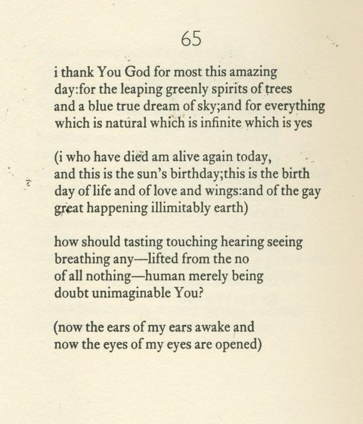 The Book Diaries For Thanksgiving My Favorite Eecummings Poem