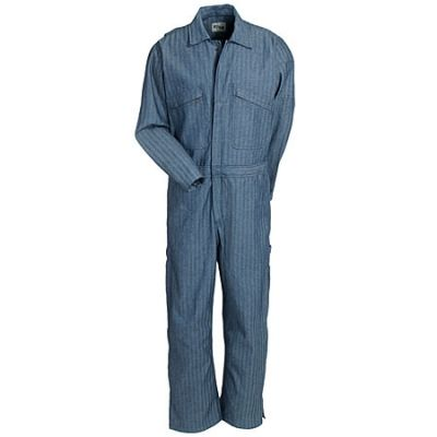 Key Clothing Men's 995 18 Wrinkle-Resistant Fisher Stripe Long-Sleeve Coveralls
