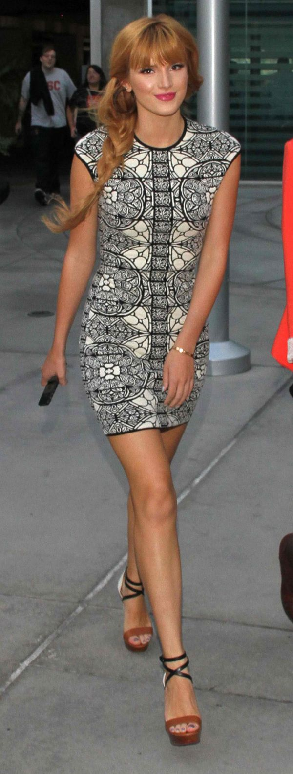 Bella Thorne in Alexander Mcqueen Jacquard Dress 3