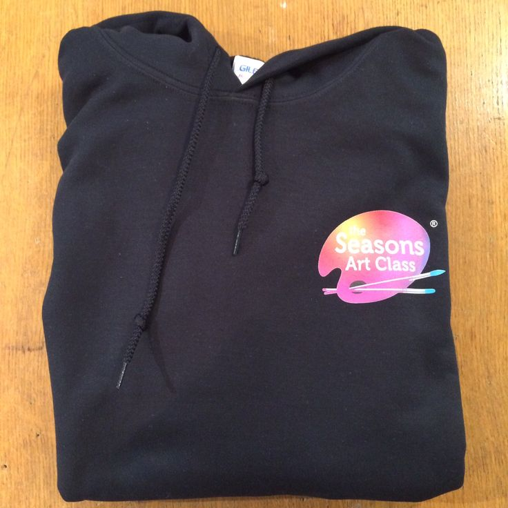 Custom printed All Seasons Art Class black hoodie