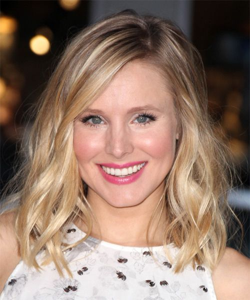 Kristen Bell Medium Wavy Casual Hairstyle - Light Blonde | TheHairStyler.com