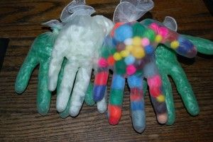 Alternative to zipper bags for sensory activity time.