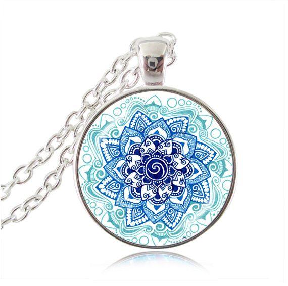 ОМ ожерелье йоги ожерелья мандалы кулон Буддизм ювелирные изделия серебряная цепочка ожерелье чакра ювелирные изделия для женщин колье мужчин подарки