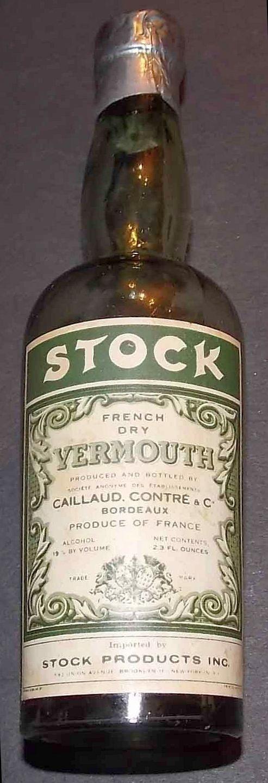 Stock Miniature Liquor Bottle (French Dry Vermouth, France, Mini Alcohol Bottles)