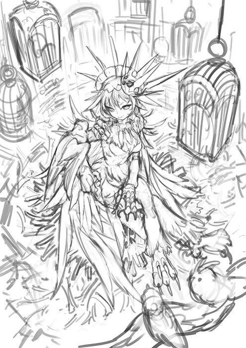 鷲姫 メイキングGIF