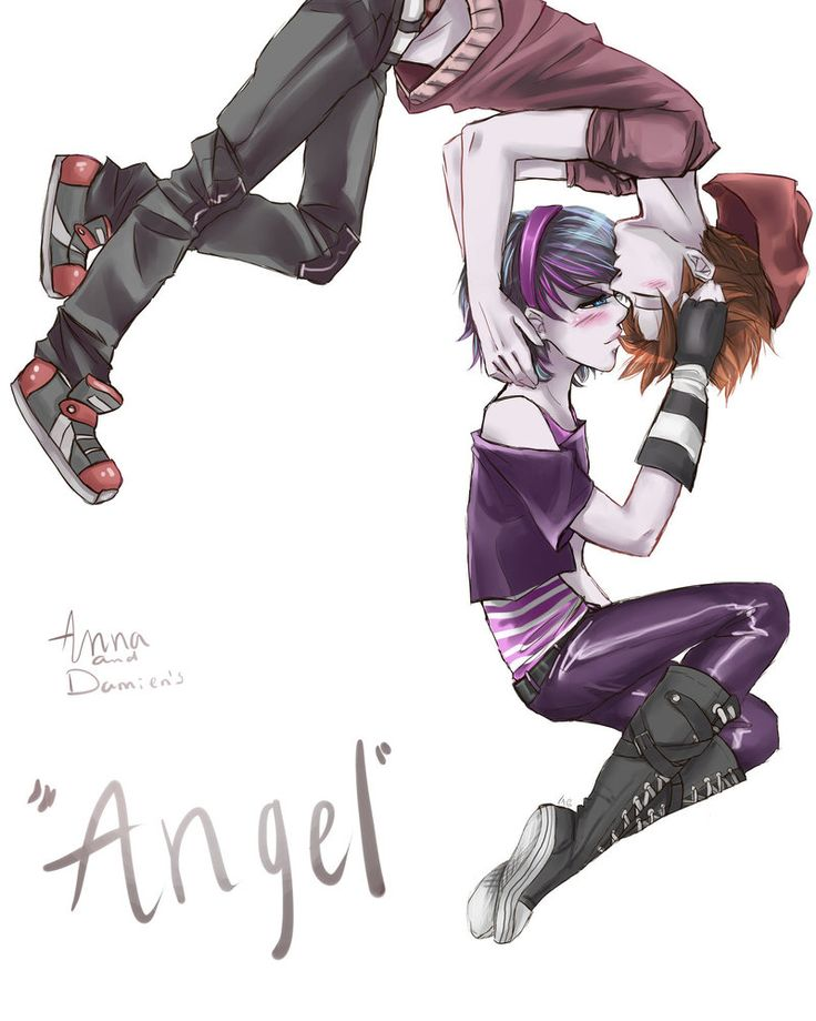 Anna Blue and Damien Dawn  'angel' by LAG015