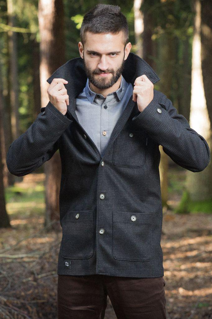 Rust - pánský vlněný kabát