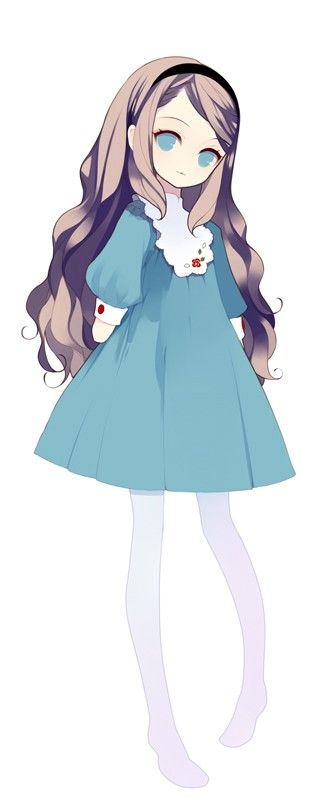 This is Yana. She is shy and only talks to her friends. She was abandoned as a child and is afraid of dogs for some reason.
