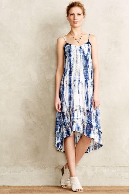 Shibori High-Low Petite Dress - anthropologie.com