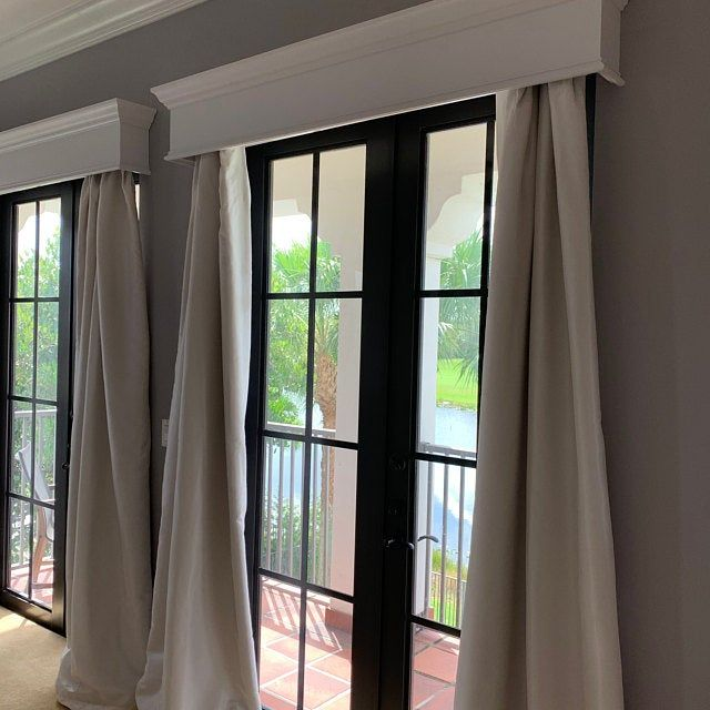 Wood Cornice Board Etsy In 2020 Wood Cornice Cornice Curtains For Arched Windows