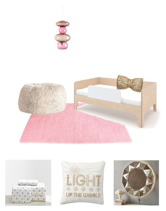"""""""gold and pink toddler room"""" by kiaritzaizquierdo on Polyvore featuring interior, interiors, interior design, home, home decor, interior decorating, Oeuf, PBteen and Fatboy"""