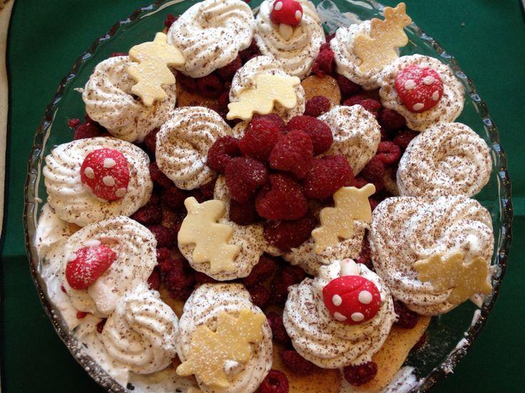woodland Christmas trifle