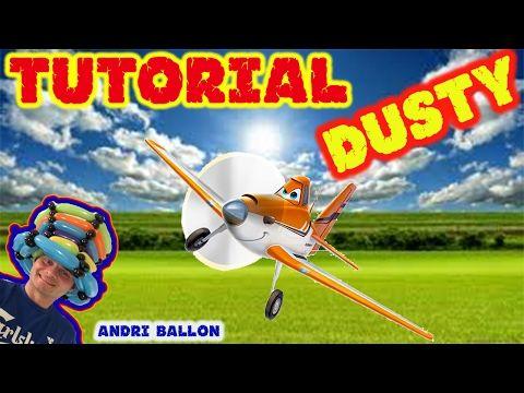 PALLONCINI MODELLABILI tutorial 27  AEREO DUSTY - YouTube