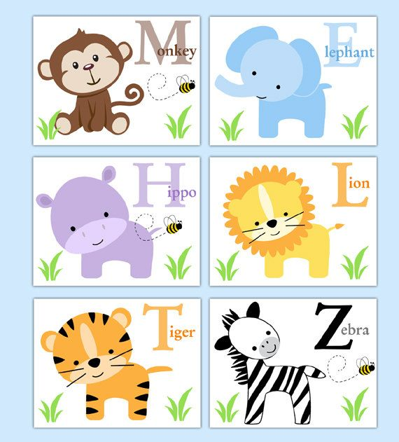 Baby Nursery Art Print Dog Abc Nursery Decor Alphabet Print: Best 100+ Alphabet Letter Wall Decor Images On Pinterest