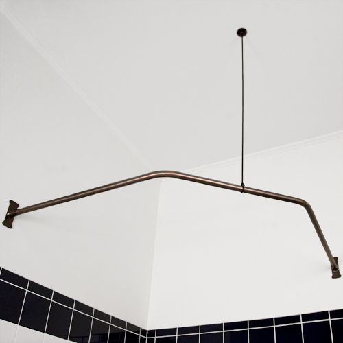 neo angle shower rod with ceiling support need this for the jet tub in the