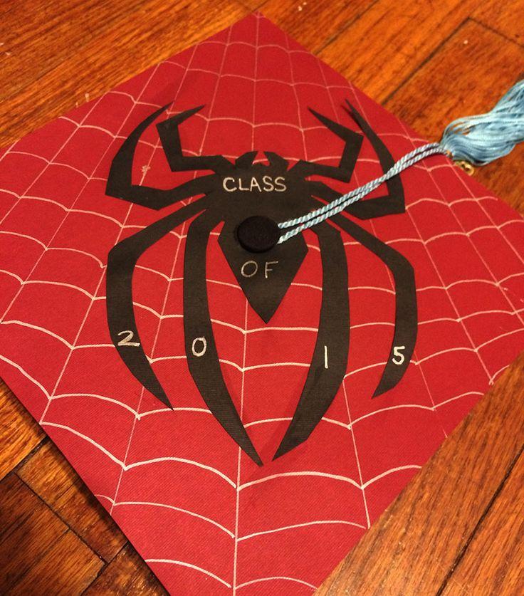 Spiderman graduation cap (University of South Carolina colors)