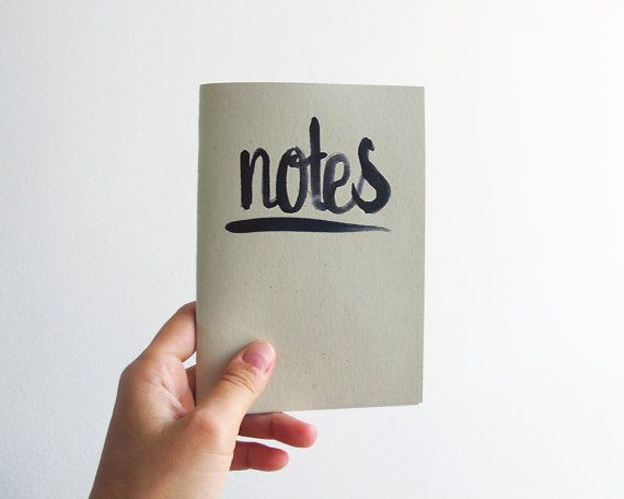 Notes  black  A6 notebook by 10antemeridiem on Etsy, $5.00