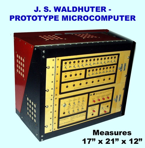 JS Waldhuter Pre-Apple Prototype Computer w Intel 8008 Parallel Processor (1975).