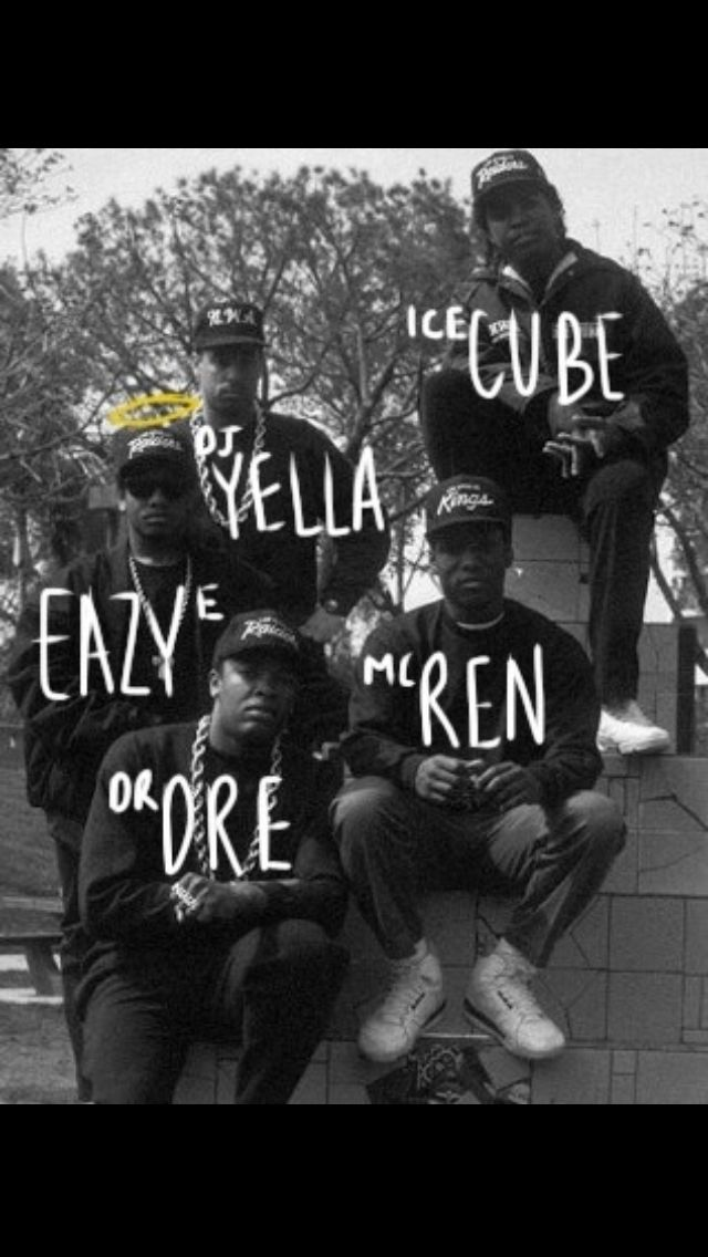 N.W.A. classic group combination pioneers to the game like // www.babesngens.com // #babesngents