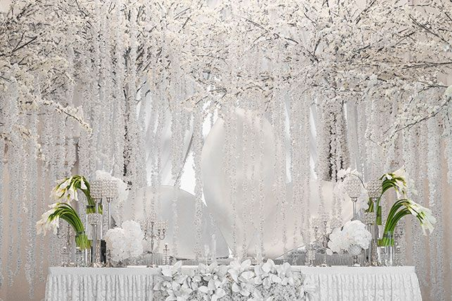 Нежная орхидея, оформление свадьбы от Юлии Шакировой, декор торжественного зала