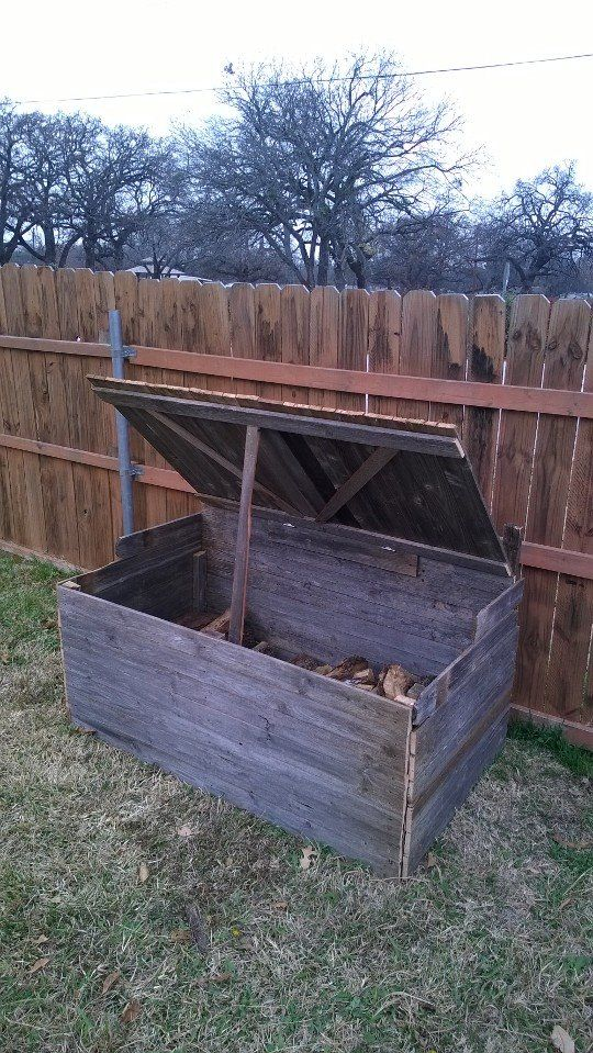 Large wood box for outside.