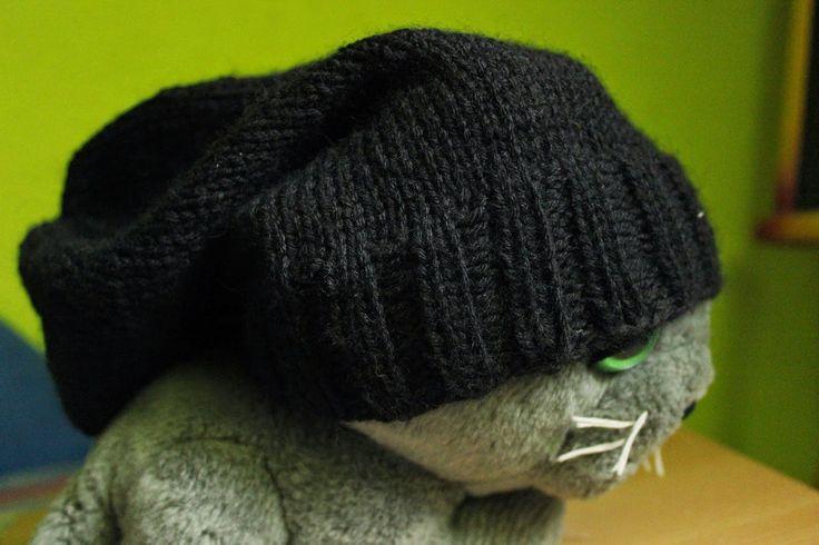 czapka worek, beanie, Merino Gold, knitting, druty, handmade by Kassy