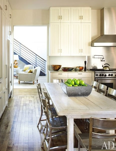 : Interior Design, Ideas, Dining Room, White Kitchen, Architectural Digest, Rustic Kitchens, Country Kitchen, Kitchen Design, Sills Huniford