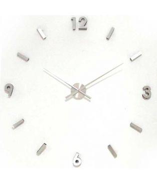 Reloj pared metal/melamina cromado