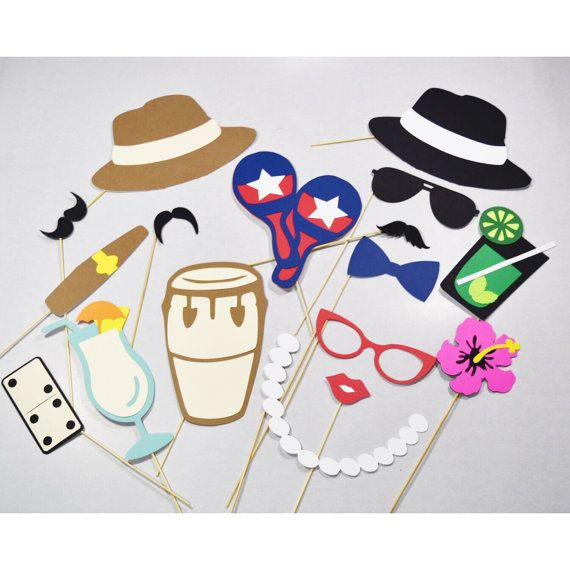 Havana nights party props photobooth 17 pc von LeStudioRose auf Etsy
