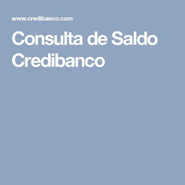 Consulta de Saldo Credibanco