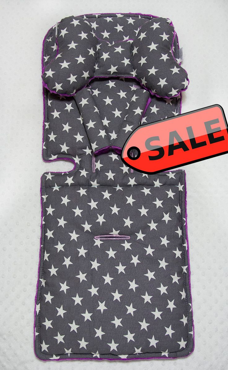 ON SALE! Stars on Gray cotton and violet minky Stroller Liner Customer Size, Baby Stroller Pad, Pram Liner, Baby girl boy Buggy Liner by ByTwinzShop on Etsy