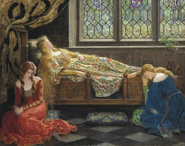"by John Collier (1850-1934), ""The Sleeping Beauty"""