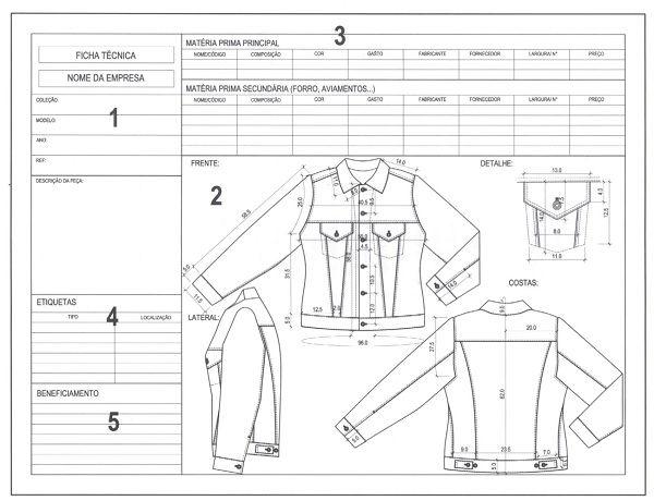 Ficha técnica de moda: da modelagem à produção - Industria Textil e do Vestuário - Textile Industry - Ano VI