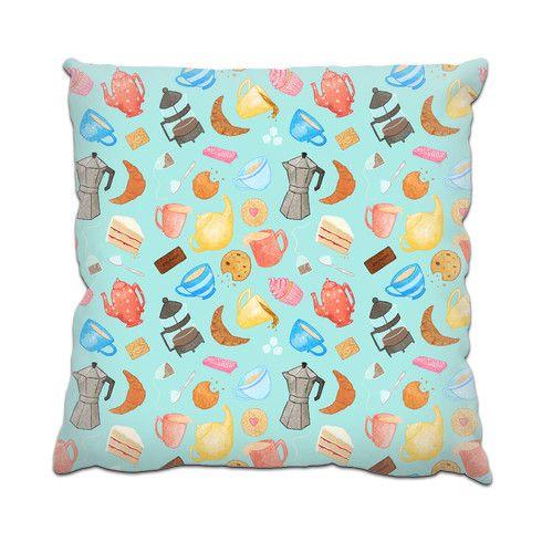 Tea Time Cushion by sarcochrane at zippi.co.uk