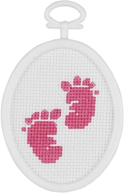 baby feet mini cross stitch kit etamin pinterest. Black Bedroom Furniture Sets. Home Design Ideas