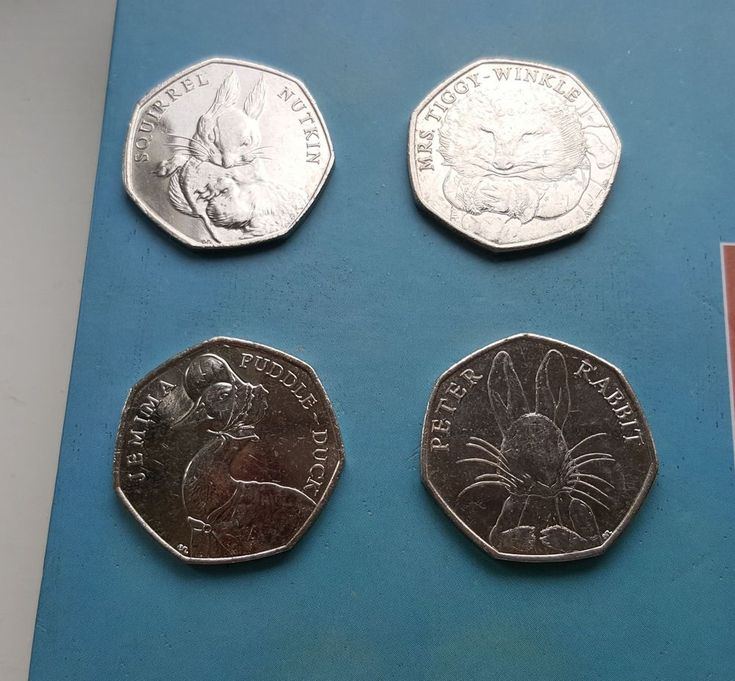 50p Coins Jemima Puddle Duck Peter Rabbit Tiggy Winkle Squirrel Nutkin £13.99 or Best offer Ebay Uk Item Number 362271548726